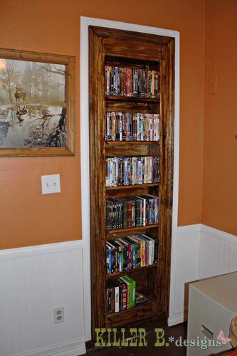 Gun Cabinet Hidden Behind A Bookshelf. Using A Hall Closet!