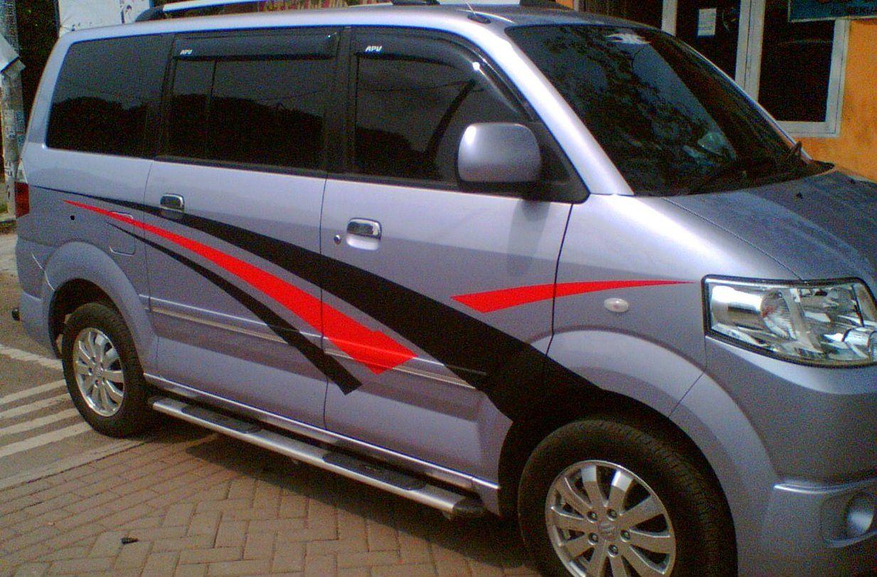 Simply Striping On Suzuki Apv Car Stickers Car Bumper Stickers Car Decals