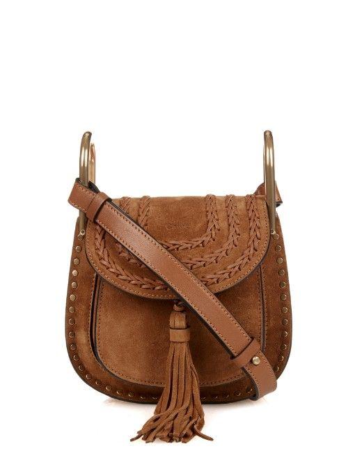 336671fcf5824 Chloé Hudson small suede cross-body bag | Bags | Chloe hudson, Brown ...