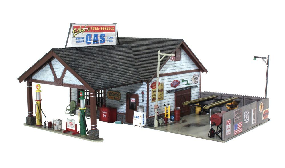 Ethyl S Gas Service O Scale O Scale Woodland Scenics