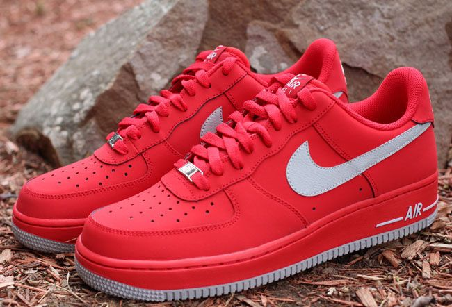 nike shoes air force red. nike air force 1 low - strata grey \u0026 university red | kicksonfire shoes