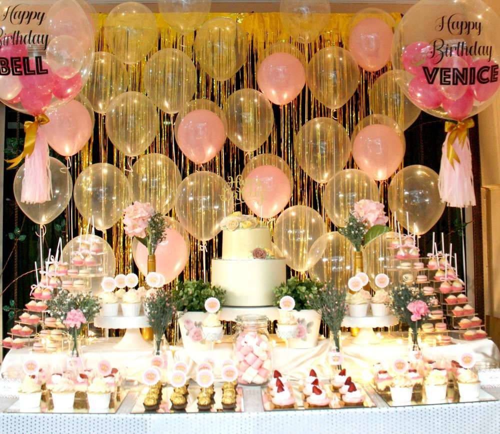 Mslaine Eventss Birthday Pink Gold Themed