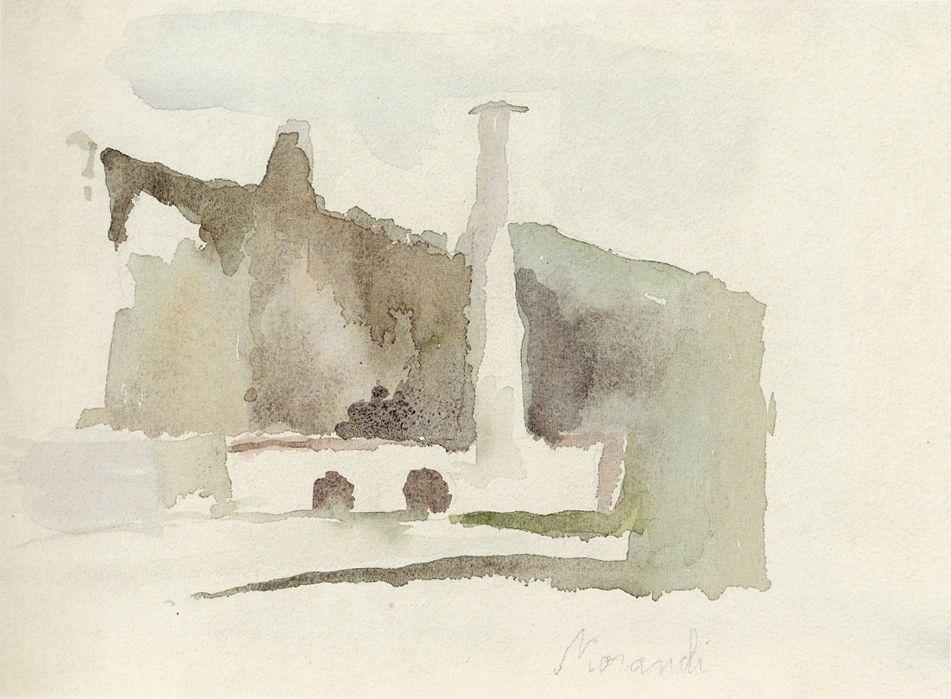 Giorgio Morandi landscape 1957