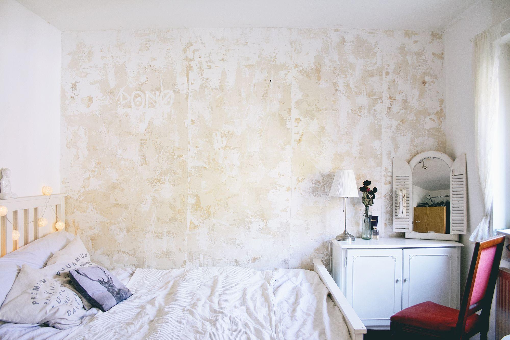 Diy Eine Wand Patinieren Wand Im Used Look Esszimmer Gestalten Wandgestaltung Wandgestaltung Wohnzimmer Grau