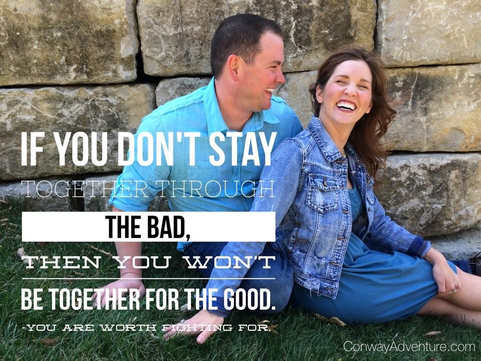Marriage is worth fighting for. I have a post on our