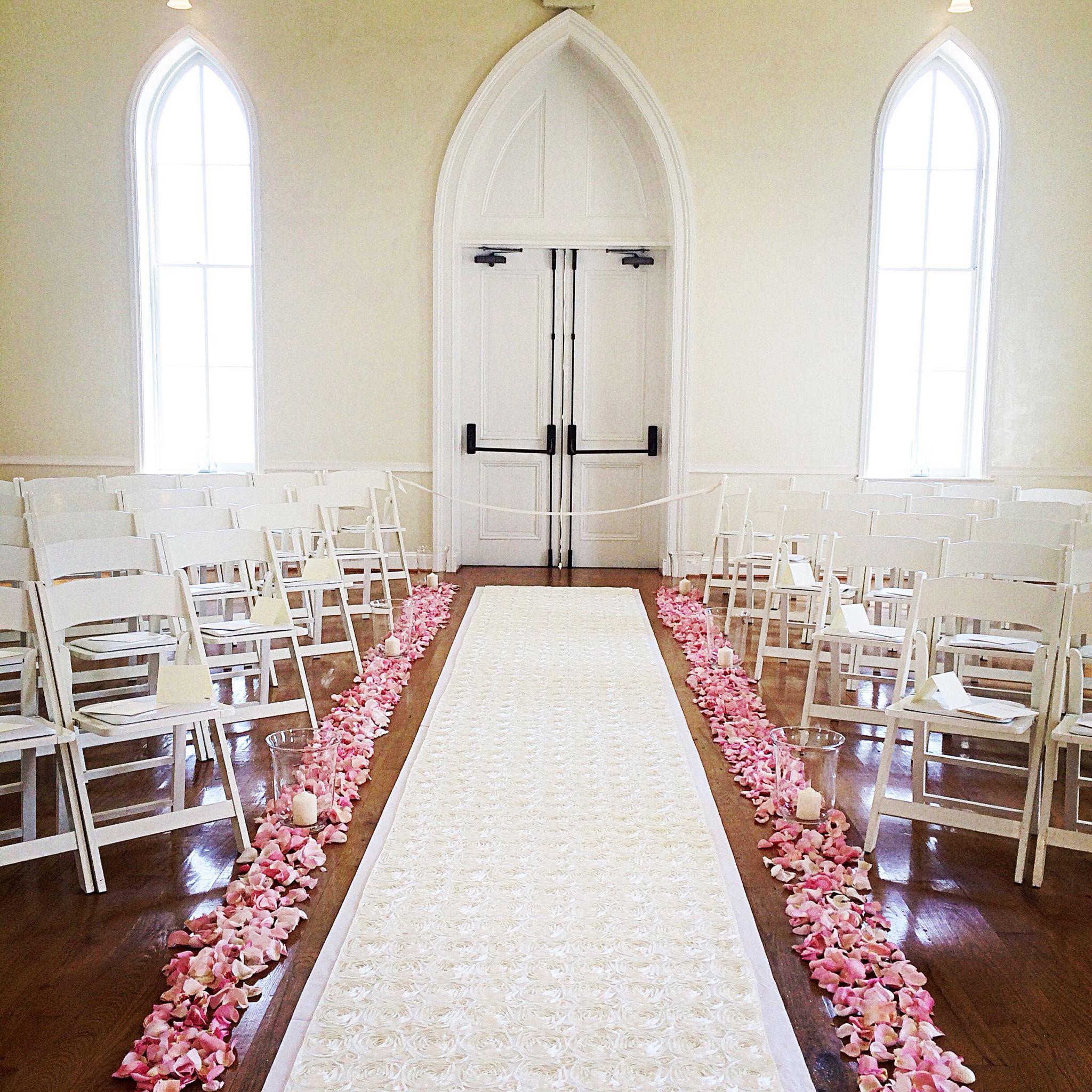 Wedding Chapel Decoration Ideas: Chapel Wedding, Rosette Isle Runner, Milton Ridge Wedding