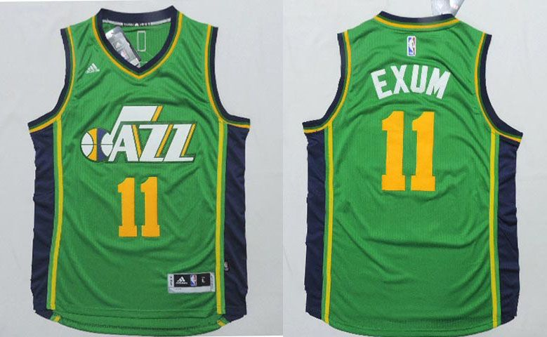 1c618b643 Utah Jazz  11 Exum Green Men 2017 New Logo NBA Adidas Jersey