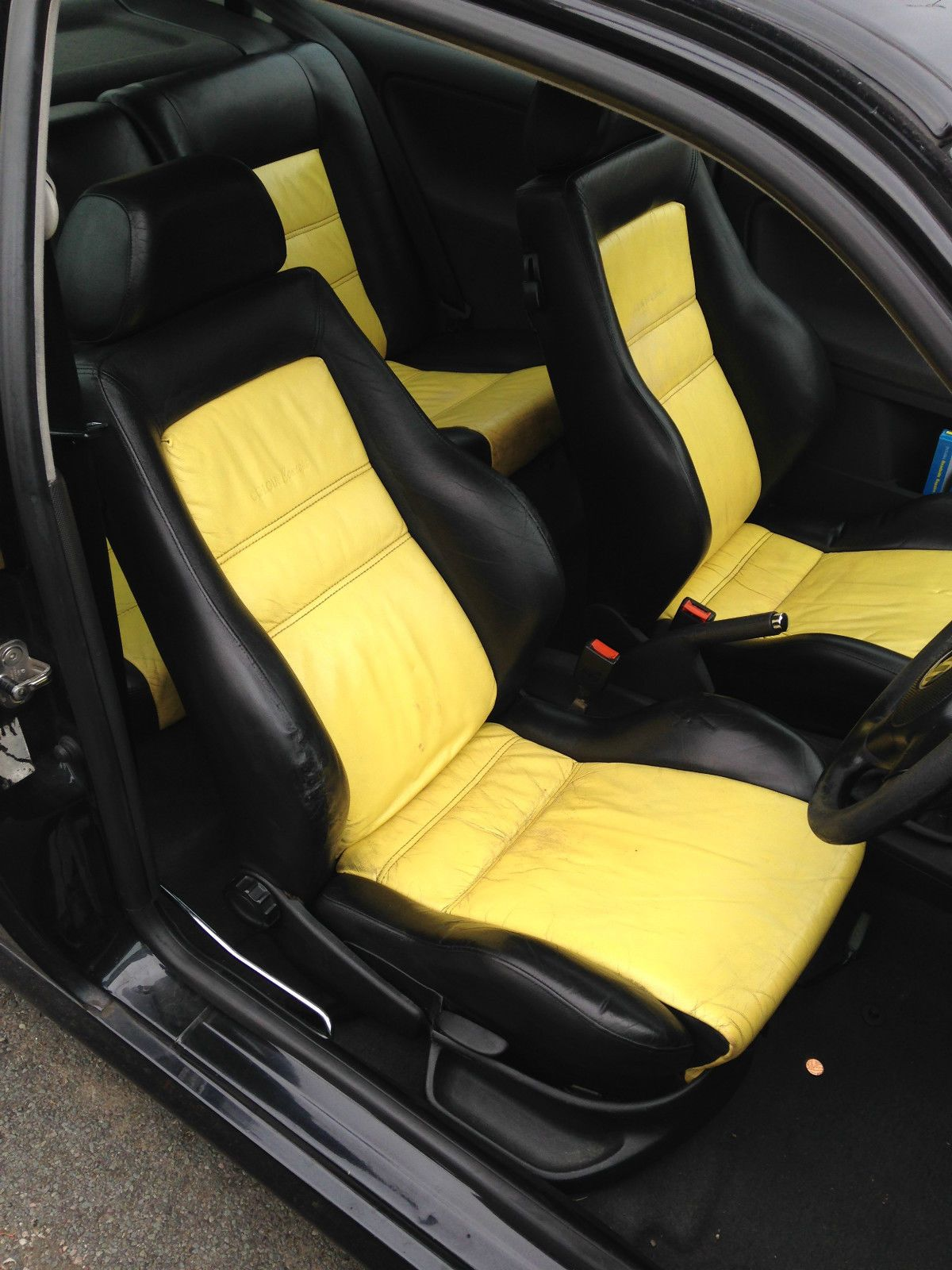VW Polo 6N / 6N2 Mk3 Golf Colour Concept Leather Interior Yellow and black seats 3 Door Seats 5 & VW Polo 6N / 6N2 Mk3 Golf Colour Concept Leather Interior Yellow and ...