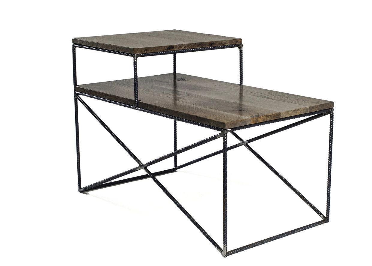 Rebar jones double shelf end table from lamon luther this with the matching coffee table Matching coffee table and end tables