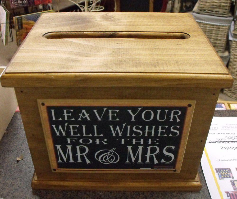 Wooden Wishing Well Wedding Card Box Ort Sayings Handmade Engagement New Weddingdiy