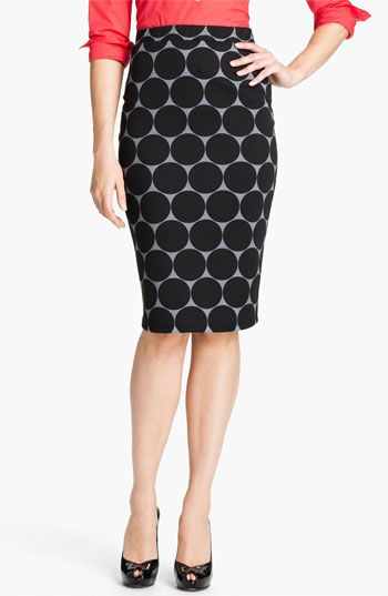 Bobeau Dot Midi Skirt available at #Nordstrom