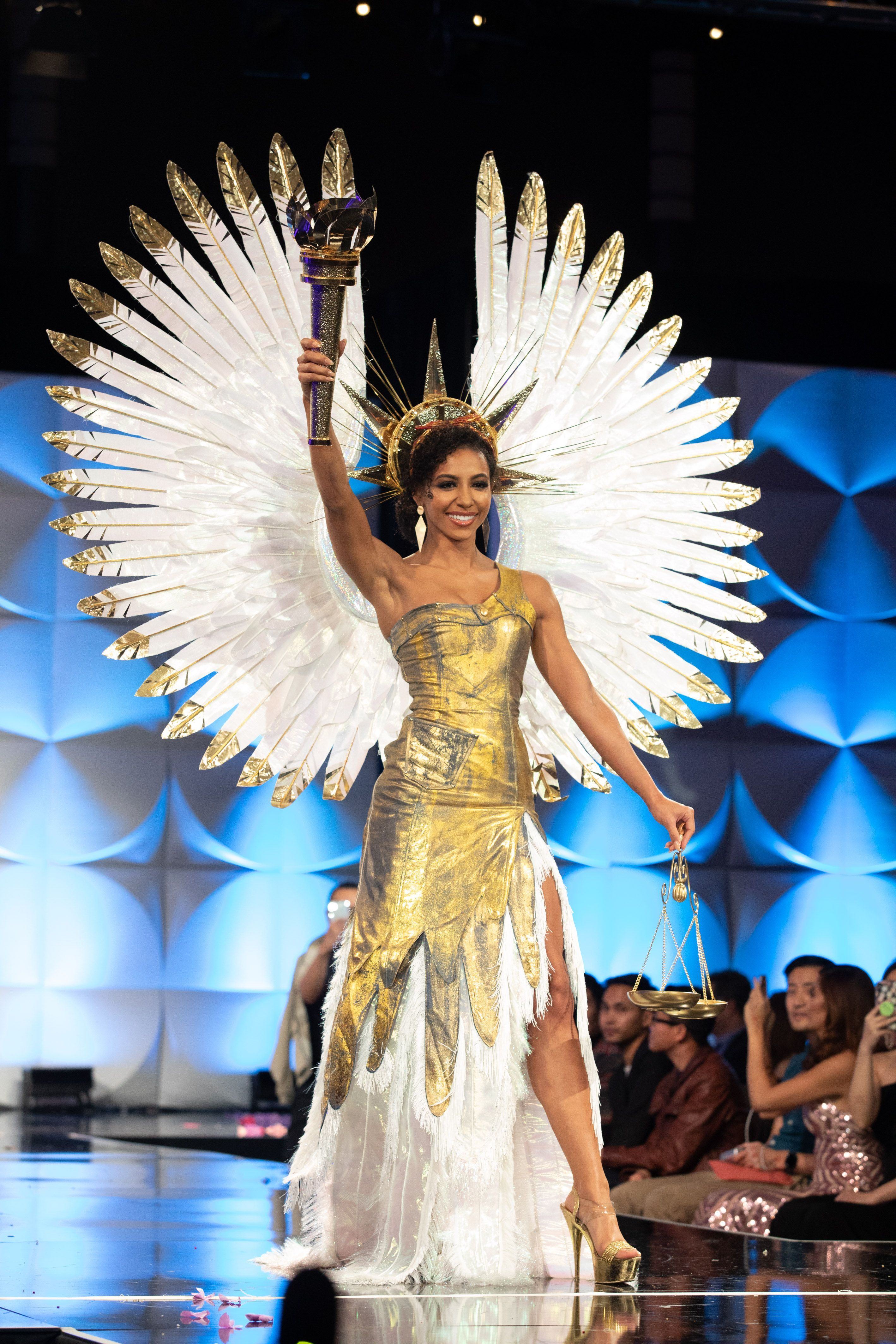 Miss Universe 2019 National Costume Competition Hosted At The Tyler Perry Studios In Atlanta Georgia During The Page In 2020 Miss Universe Gowns Pageant Life Pageant