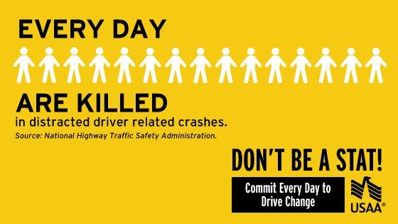 Every Day 15 People Are Killed In Distracteddriving Related