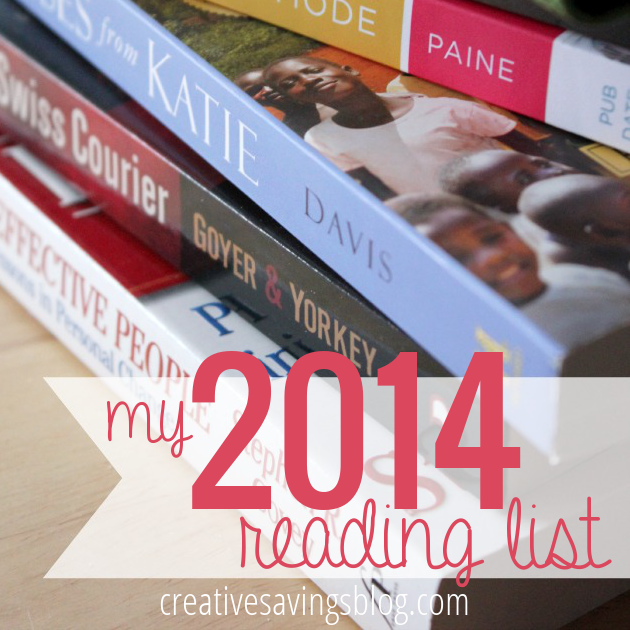 Do you make annual reading lists? Here are my favorite picks for 2014, ranging from lifestyle reads to Christian Fiction. Plus, I'm sharing my secret to reading more!