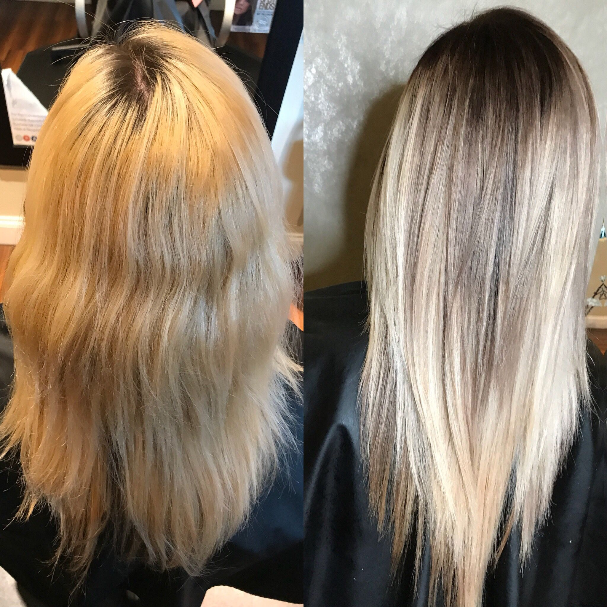From A Brassy Blonde To A Cool Toned Shadow Root And