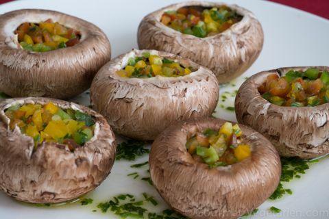 Bouchées de Portobellos aux Poivrons