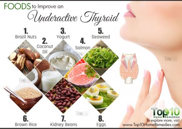 Diet For Hypothyroidism 10 Foods To Improve An Underactive Thyroid Top 10 Home Remedies Underactive Thyroid Thyroid Recipes Foods For Thyroid Health