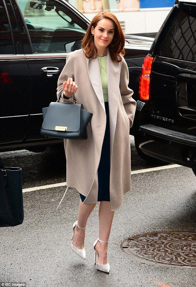 Michelle Dockery oozes sophistication in figure-hugging ...
