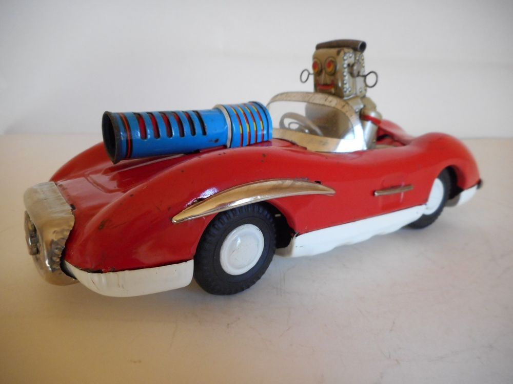 Vintage Japan Tin Friction Cragston #565 Space Robot Patrol Car 1950's-1960's #AsahiToy