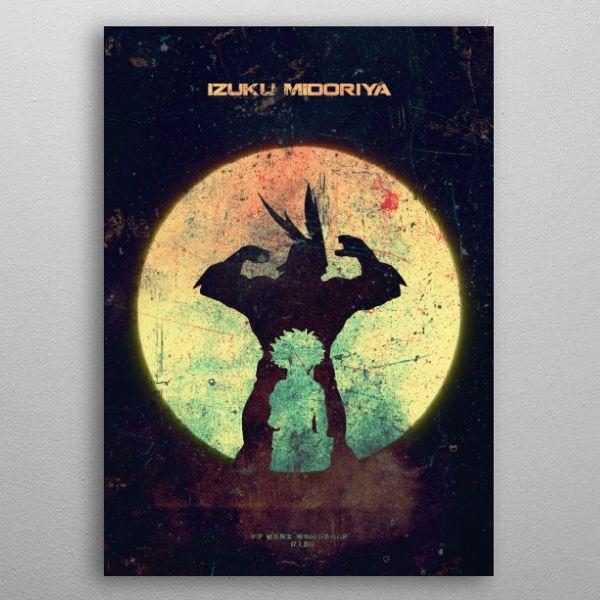 Izuku Midoriya Minimalistic Poster Print | metal posters - Displate | Displate thumbnail