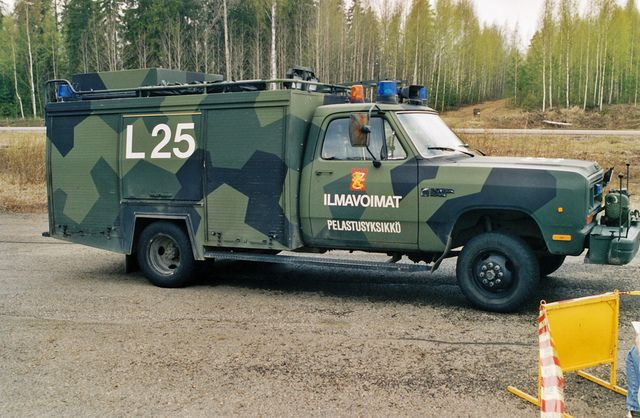 Ilmavoimat L25 ARFF Airport Rescue Fire Fighting