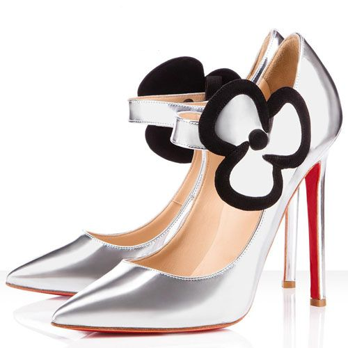 Christian Louboutin Pensee 120mm Leather Pumps Silver