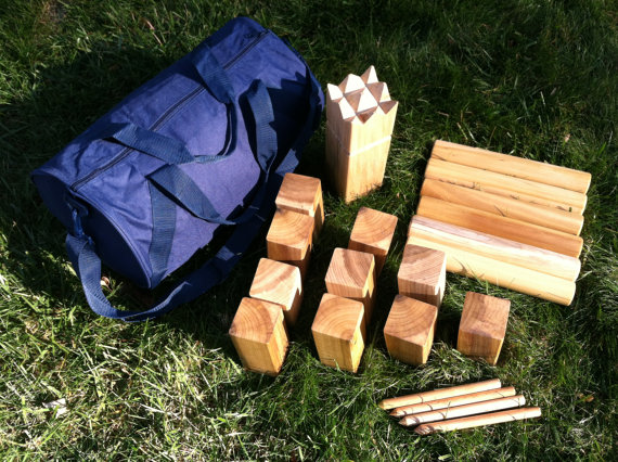 Kubb the viking game natural beeswax finish discover for Viking outdoor