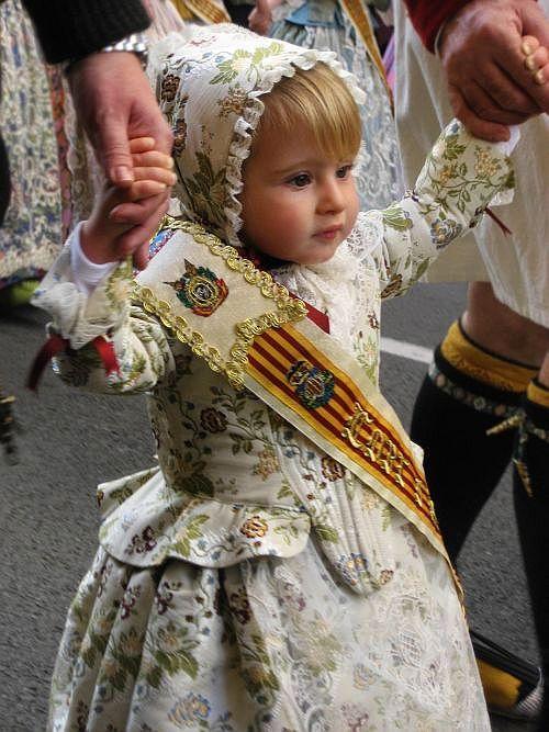 Little girl celebrating the Las Fallas Festival in Valencia, Spain