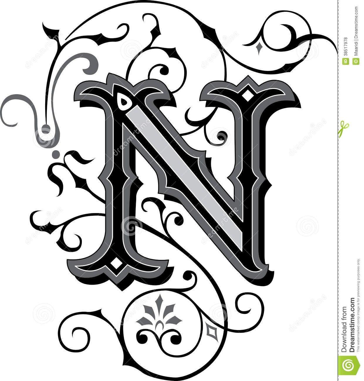 Fancy Letter N Designs