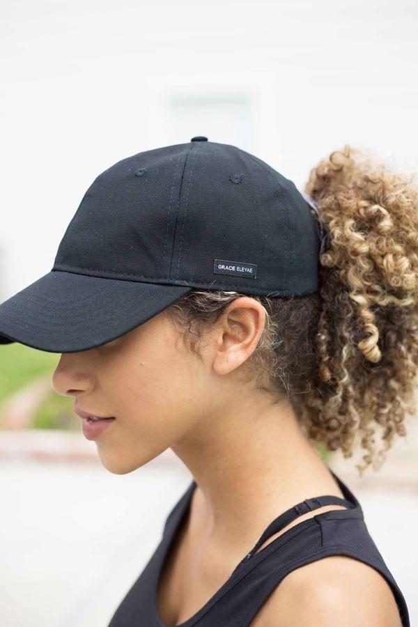 df88146f860 Black Satin-Lined Baseball Hat