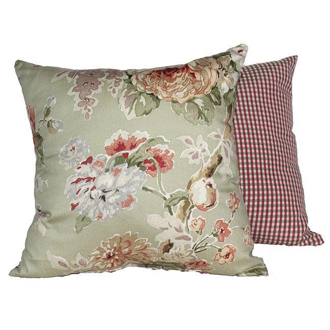 Rlf Home Le Fluer Sage Pillows Set Of 2 Green Size 16 X Cotton Check