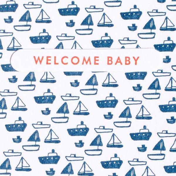 Tiny Boat Baby Motif Maillot