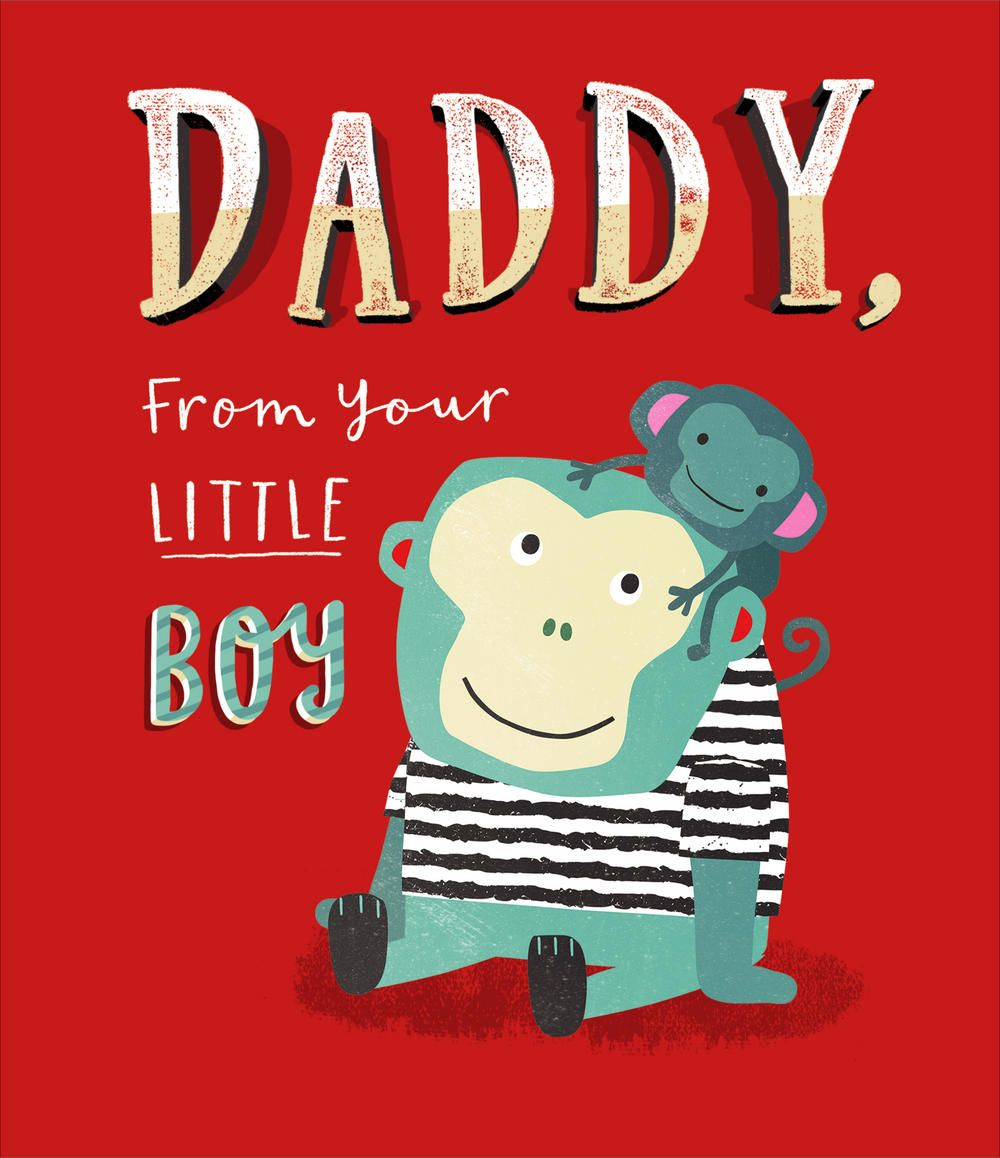 Daddy from little boy fathers day card cards fathers