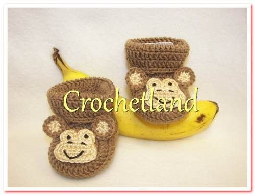 d1b4cd84f Zapatitos Tejidos A Crochet Niños Animalitos -   80.00 en MercadoLibre