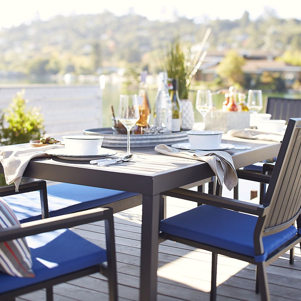 About Us Grey Dining Tables Table Seating And Outdoor Dining - Black rectangular outdoor dining table