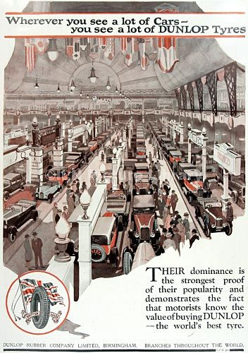 Advert for Dunlop Tyres