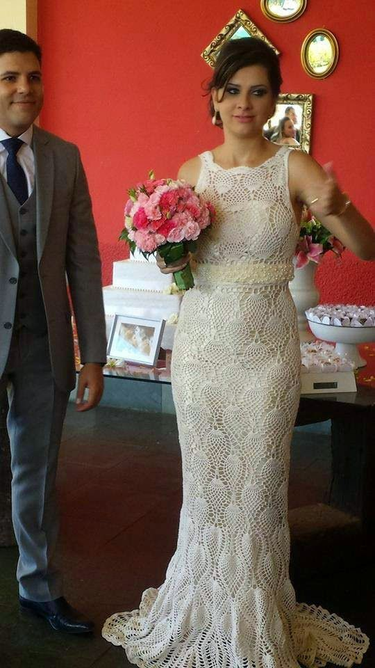 crochelinhasagulhas: vestido de noiva | MODA INFANTIL | Pinterest ...