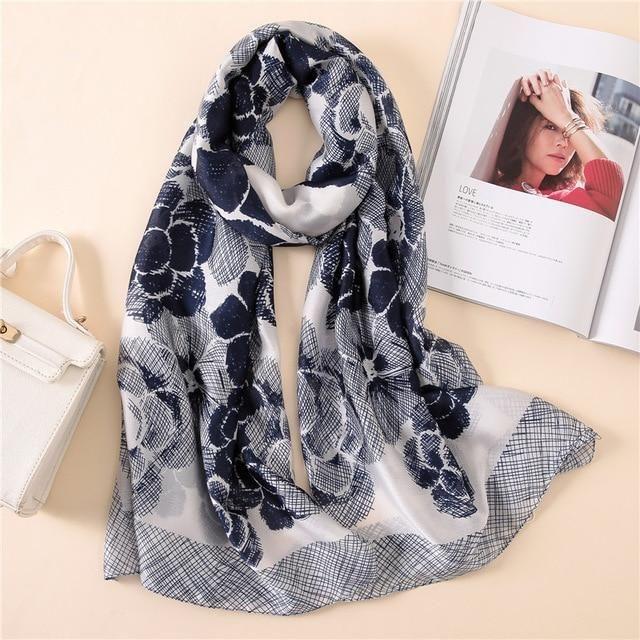 aa22e61b5de69 2018 luxury brand women scarf summer silk scarves shawls lady wraps soft  pashimina female Echarpe Designer beach stole bandana