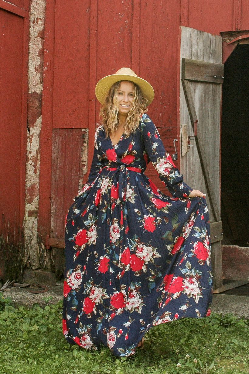 4th Of July Outfit Ideas We Love Meesh Floral Maxi Dress At Lucky Boutique Floral Wrap Maxi Dress Maxi Wrap Dress Floral Chiffon [ 1230 x 820 Pixel ]