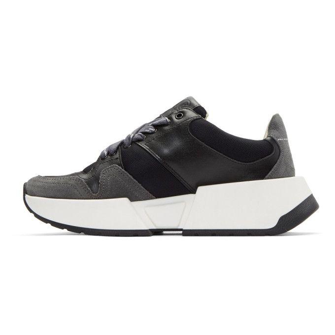 MM6 Maison Martin Margiela Black & Grey Flare Sneakers Y7XqX