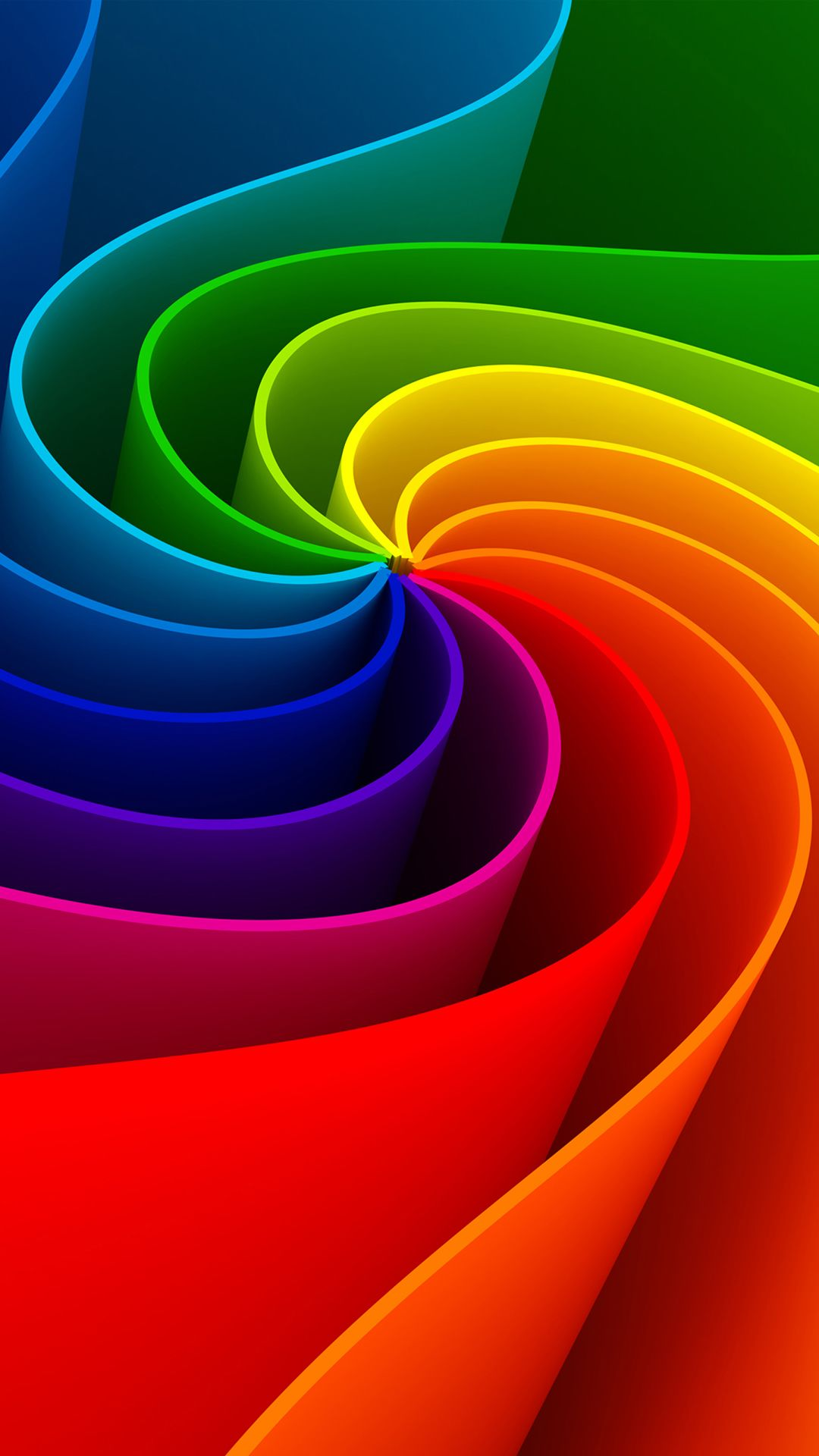Iphone 6 background image - Colorful 3d Swirl Iphone 6 Wallpaper