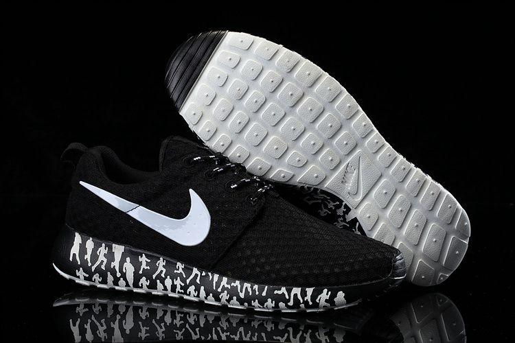 3343fa63e479 Cheap Nike Women Men Shoes - Factory Nike Roshe Run Mesh Black White Women  Men Outlet
