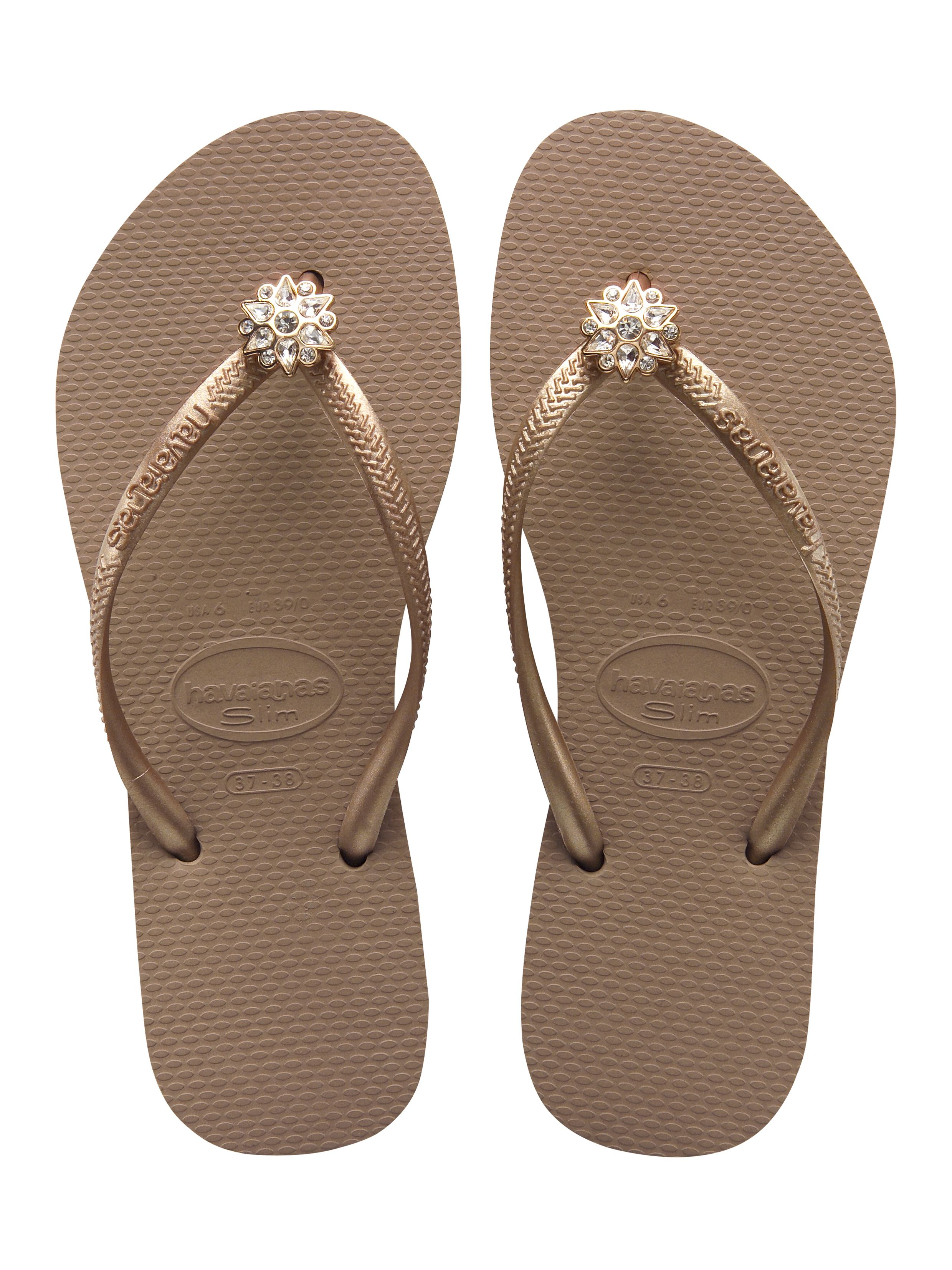 ... slim silhouette footbed, the Slim Crystal Poem flip flop is a  fashionable flip flop for women. These flower embellished flip flops come  in fresh new ...