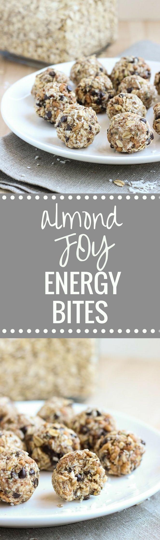 NoBake Almond Joy Energy Bites Snacks, Energy bites