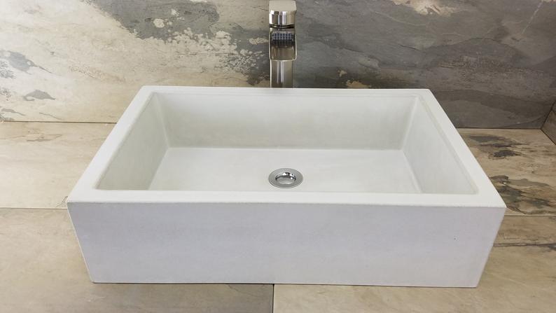 20x13 Rectangle Concrete Sink Concrete Sink Concrete Sink