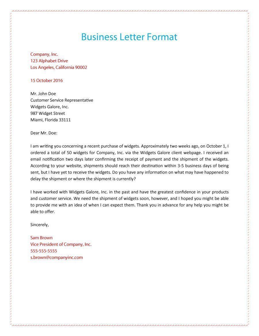 formal business letter 01  Business letter  Formal