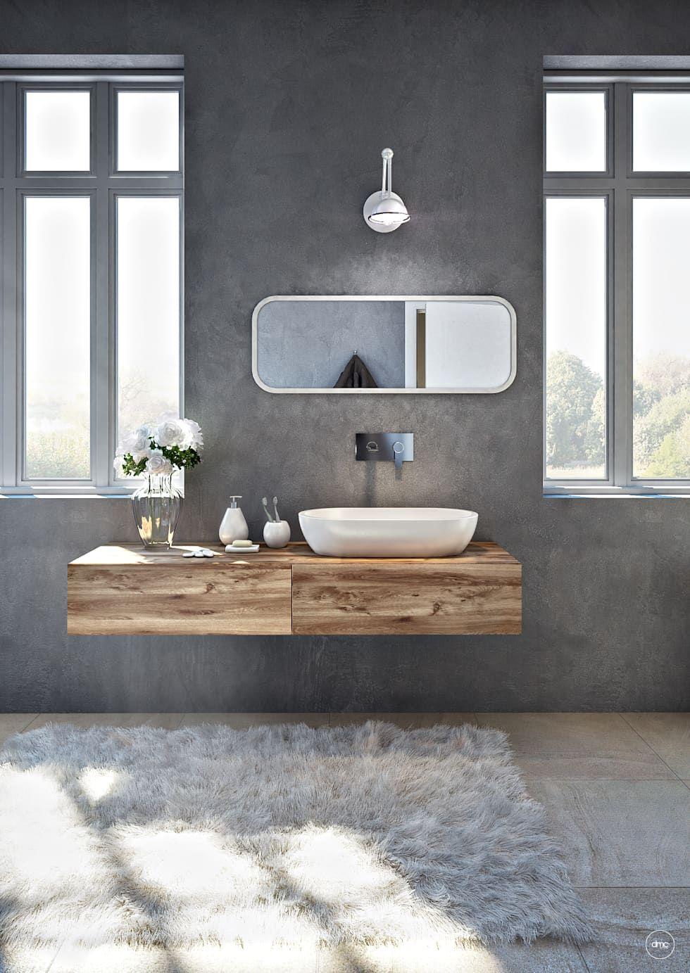 Bathroom in Sardinia: Bagno in stile in stile Industriale di DMC Real Render