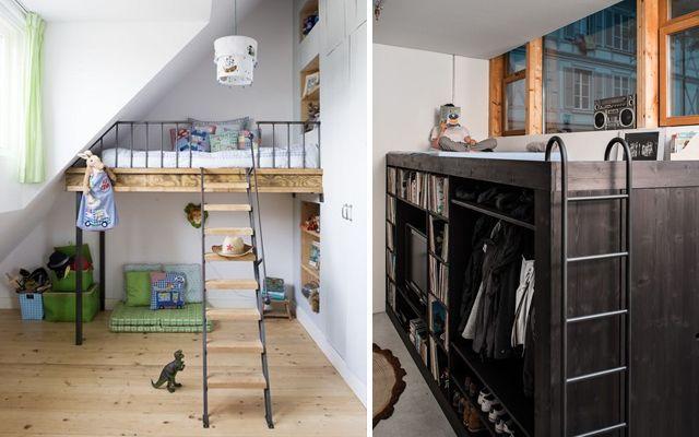 Como decorar espacios pequeños con camas en alto Home ^_