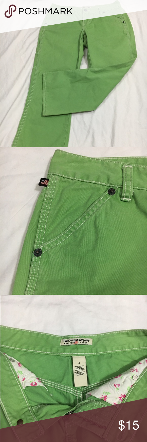Polo Jeans Ralph Lauren Capri Size 4 Great for spring!!! In perfect condition. Lauren Ralph Lauren Pants Capris