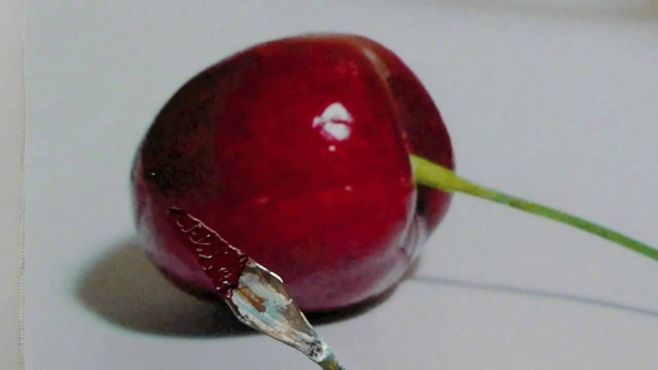 Yummy red cherry sketch 2: The sketch and paint mania